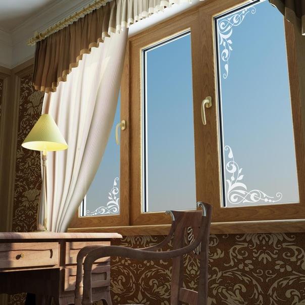 matirovannoe steklo v okne